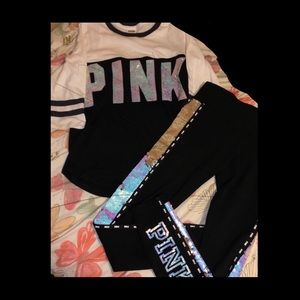 Pink by Victoria secret matching outfit